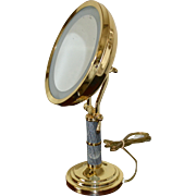 Fancy Deco Inspired Large Swivel Lighted Magnified Vanity Mirror