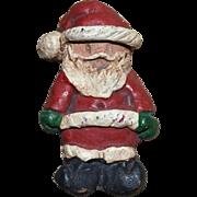 SALE Signed Folk Art Santa Handcrafted Christmas Pin