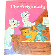 1970 Walt Disney THE ARISTOCATS Big Golden Book ~ Hardcover First Edition