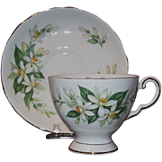 Tuscan Fine English Bone China Cup and Saucer Bridal Flower Pattern
