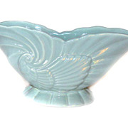 Haeger USA 3416 Turquoise Bowl Ceramic PLANTER Bowl Shell Design