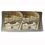 Stereo View Card ALBUMEN 1902 E W Kelley Rau Fairmount Park Philadelphia