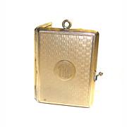 Elgin American Mfg Co Miniature Photo Album Gold Shell LOCKET Pendant RARE