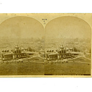"Stereo Card Albumen 1876 International Exhibition 4 1/4"" x 7"" Stereoview"