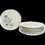 "8 Syracuse China Carefree Salad Plates CONCORD ROSE 1960s 8"""