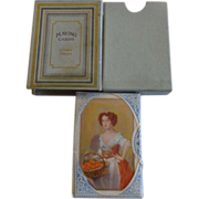 John Waddington Unopened Linen Playing Cards Blue Duty Tag