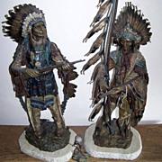 "Magnificent Original Museum Quality 1895 Circa Carl Kauba's ""War & Peace"" 28"" & 33-1/2"" Cold Painted Bronze Sculptures Signed By the International Renowned Artist, ""C. Kauba"""