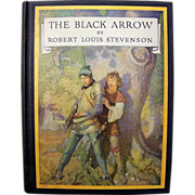 "Outstanding Robert Louis Stevenson Classic ""The Black Arrow"" American Edition by Scribner's Sons 1933 and Illustrated by N.C. Wyeth"