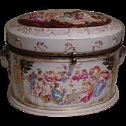 Antique Capo-di-Monte Porcelain Dresser or Jewelry Box