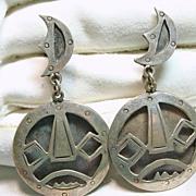 Sterling Silver Drop Style Earrings with Screw Backs