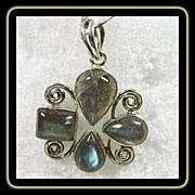 Labradorite  and Sterling Silver Pendant