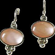 Sterling Silver Pink MOP Earrings