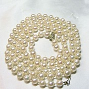 32 Inch Strand Of Salt Water Cultured Pearls