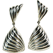 Sterling Silver Earrings by Christian Dior