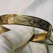 Victorian Revival Gold Filled Cuff Bracelet