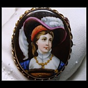 Victorian Hand Painted Portrait Miniature