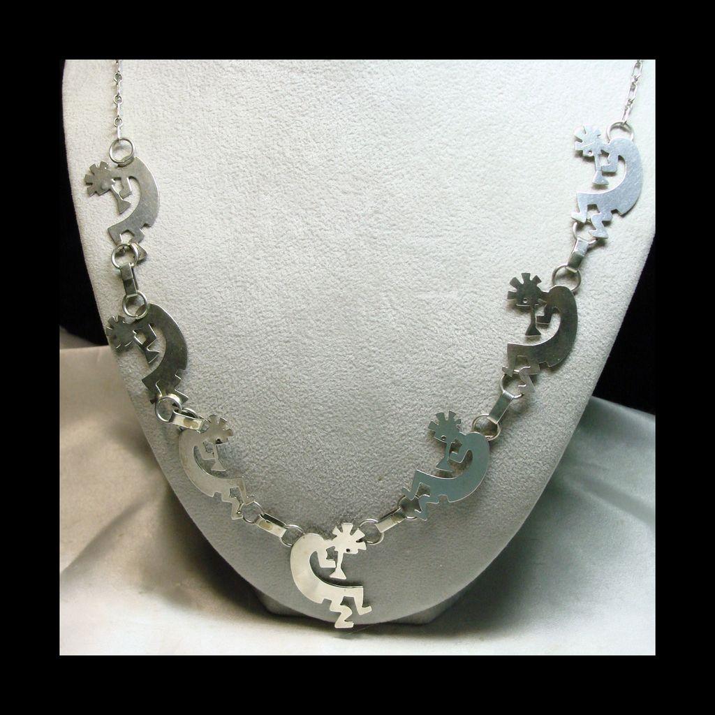 Sterling Silver Kokopelli Necklace