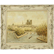 Louis Payret School of ParisFine Quility Vintage Impressionist Painting