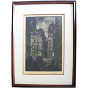 Wilson Eugene Silsby 1883 -1952) Org. Signed 1920s Etching Paris Street