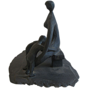 Peter Hord Bronze Sculpture on Slate Stone base