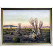 Carl G. Bray Palm Springs Desert Landscape, California Artist