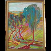 "Juan Guzman Maldonado org. painting ""Temecula Mountain Tree (California)"""