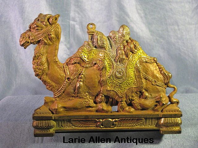 Judd Cast Iron Polychrome Camel Expandable Bookends