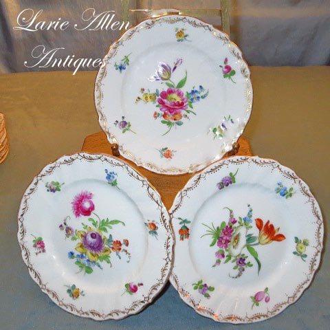 """Richard Klemm Dresden Porcelain Floral 5.5"""" Plates Set of 6"""