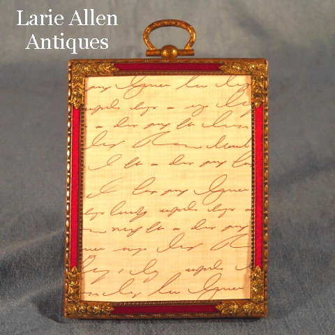 Red Guilloche Enamel Picture Frame