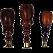 Wood Handle Wax Seal Set of Three