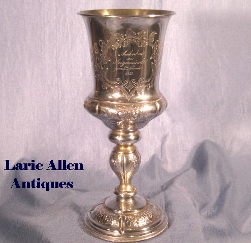 Commemorative Silver Goblet Dated November 5, 1851