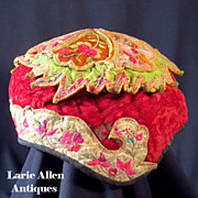 Chinese embroidered child's hat