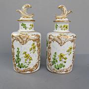 Antique Sevres Porcelain Cologne Bottles Dated 1771
