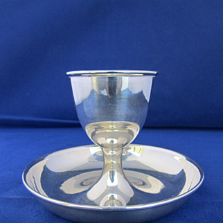 Antique English Sterling Silver Egg Cup - London 1901