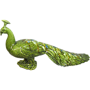 DeForest Pottery Peacock, Vintage