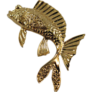 Vintage Gold-Tone Fish Pin