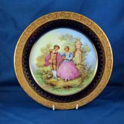 "Gold Encrusted ""Object D'Art Limoges France"" Plate"