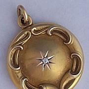 Victorian 14K Gold & Diamond Locket