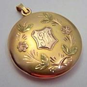 Antique 14K Tri-Color Gold Locket