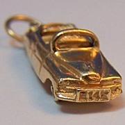 14K Gold Vintage Automobile Charm ~ Classic Convertible Vehicle