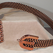 REDUCED Renoir-Basket weave-Copper-Belt-1960's
