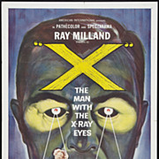 "Original Sci-Fi Movie Poster  ""X - The Man with the X-Ray Eyes"""