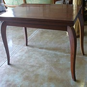 REDUCED FALL SALE ITEM Early- Mid 20th Century French Foldable Palissandre Rosewood Veneer Game Table