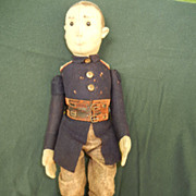 Early Steiff German Soldier Character Doll