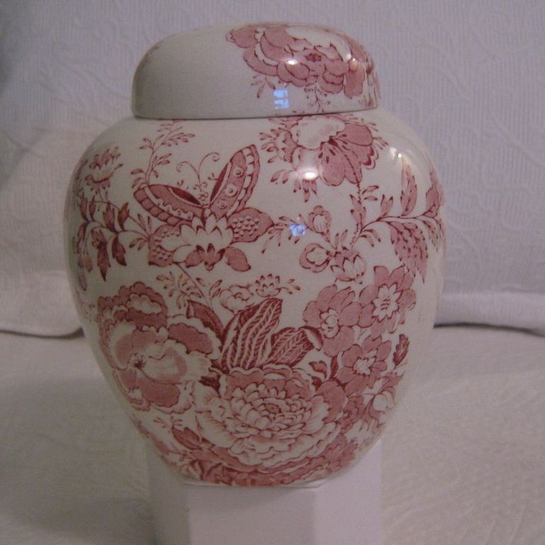 Vintage English Transferware Ginger Jar by Maling Newcastle on Tyne England