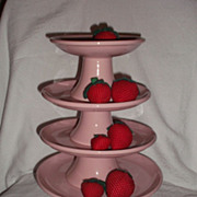 Mid Century Cake Stands ~ Assorted sizes~` Pink Ironstone Restaurant Ware
