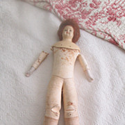 """Cuno & Otto Dressel Holz-Masse Doll Kid Leather Body 17"""" Tall"""