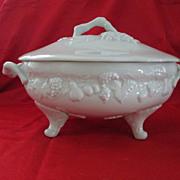 """Philippe Deshoulieres Porcelain Soup Tureen Vintage """"California"""""""
