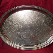 Sheridan Silver Co Oval Hollowware Gallery Tray ~ Silver Plated Large & Lovely!