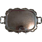 Vintage Gorham Newport Silver Plated Handled Serving Tray